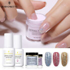 4Bottles BORN PRETTY Dipping Powder Top Base Coat Holographic Glitter Nail Art