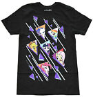 My Little Pony Characters Black Men's Graphic T-Shirt New