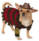 Freddy Kruger Dog Fancy Dress Halloween Nightmare on Elm Street Pet Costume New
