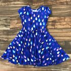 Kyпить NEW DOT Smile CUP Twirl Dress Summer Knit Short Sleeve Girls Rain Drops  на еВаy.соm