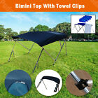 6' & 8' Boat Bimini Top 3 Bow / 4 Bow Canopy Cover 46'' / 54'' Width Freee Clips