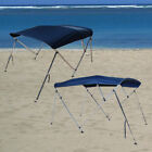 6' & 8' Boat Bimini Top 3 Bow / 4 Bow Canopy Cover 46'' / 54'' Width Freee Clips image