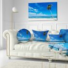 Designart 'Calm Summer Vacation Beach Philippines' Modern Seascape Throw Pillow