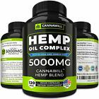 Hemp Oil Capsules Drops Pain Relief Reduce Stress Joint Support Sleep Aid 5000mg $14.84 USD on eBay