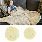 Novelty Round Burrito Blanket Flour Tortilla Texture Soft Fleece Throw Blanket