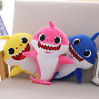 Baby shark singing plush toy animal with baby shark song and LED light <br/> 12'' and 16'' available. With song  and LED light