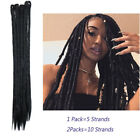 Dreadlocks Extension Faux Locs Synthetic Hair Jamaican Reggae Punk For Human J21