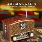 bluetooth Portable Retro Radio FM AM SW AUX USB TF Card MP3 Player Rechargeable