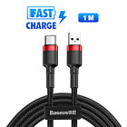 Baseus Micro USB/Type-C Cable Fast Charging Charger Cord Samsung Android 1m/2m