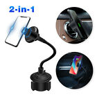 Wireless Car Charger Air Vent Mount Adjustable Cup Holder Cradle for Cellphone