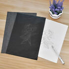 100 Sheets Black/Blue Carbon Transfer Graphite Paper Tracing Drawing Canvas Art