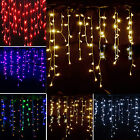 3.5m 96 Led Icicle Hanging String Fairy Lights Curtain Christmas Outdoor Party