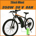 """26"""" Electric Fat Tire Bike City Mountain Bicycle w Removable Lithium Battery US~"""