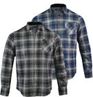 Mens Flannel Checkered Lumberjack Shirt Long Sleeved Casual S-XL