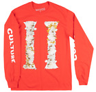 MIGOS CULTURE II LONG SLEEVE SHIRT RED OFFSET QUAVO TAKEOFF TRAP MUSIC BRAVADO