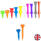 Made In UK Strong Plastic Golf Tees Graduated Castle Straight - Choose Quantity