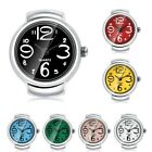 Colorful Mini Women Men's Quartz Analog Large Number Dial  Finger Ring Watches image