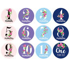 36pcs Baby Pregnant Monthly Photograph Stickers Month Milestone Floral Sticker