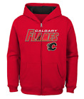 NHL Youth Calgary Flames Stated Red Full-Zip Hoodie Large 14/16 $14.99 USD on eBay