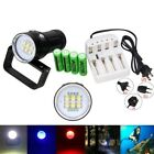 Diving Photography Video 25000LM 6xSSC-P7-P+4xRed+4xBlue LED Torch 4X18650 Light