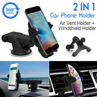 2in1 Car Windshield & Air Vent Mount Phone Holder for GPS Mobile Smart iphone