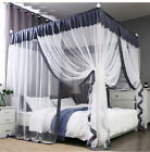 4 Corners Post Curtain Bed Canopy Bed Frame Canopies Net Wedding Bed Decoration image