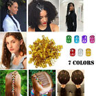 Kyпить 100pcs Dreadlock Beads Cuff Tube Clip Hair Dread Braiding Jewelry DIY Decoration на еВаy.соm