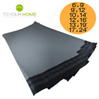 Grey Mailing Bags 50% Recycled Plastic Self Seal Strong Postal Poly 6 Sizes