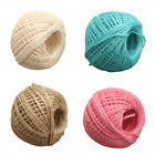 nw 100M/Roll 2mm Natural Jute Rope Hemp Twine Strong Cord Thick Rope String