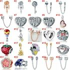 European Silver Charms Minnie Safety Chain Beads Cz Pendant Fit 925 Bracelets