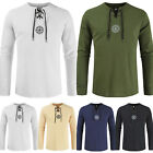 Men's Slim Fit V Neck Shirts Long Sleeve Casual Printed T-Shirt Jersey Tops Tee image