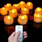 Flameless Candles Flickering Plastic LED Candles Set of 12 with Remote Control