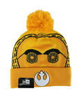 New Era Star Wars Beanie Hat Cap C3PO Galactic Adult Men Women Gold Pom Pom Knit $15.0 USD on eBay