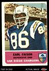 1962 Fleer #87 Earl Faison Chargers FAIR $5.75 USD on eBay