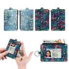 Slim Coin Purse RFID Blocking Leather ID Holder Credit Card Case with Key Ring image
