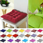 New Square Plain Chair Pad Cushion Cover Thick Seat Cushion For Dining Home US