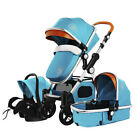 New 3 in 1 Baby Stroller High Landscape Pram foldable Safety pushchair Car Seat