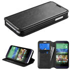 For HTC Desire 510 Slim Wallet Book Style Case Cover Card Holder