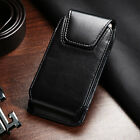 Vertical Black Business Belt Clip Loop Phone Holder Pouch For Cell Phones