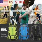 US Outdoor Hiking Camping Travel Backpack 50L Capacity Rucksack Luggage Bag GIFT