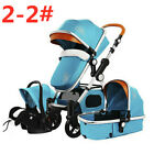 3/4 in 1 Baby Stroller Car Safety Seat Stroller With Accesories Newborn Portable