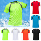Men's T-Shirts Tops Sports Quick Dry Shirt Athletic Running Casual Tee Blouse image