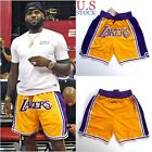 Lakers Basketball Team Shorts Lebron James Summer League Mens Sizes S-2XL US on eBay