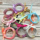 All Weather Glitter Bangles Set Glitter Filled Silicone Jelly Summer Bracelets image
