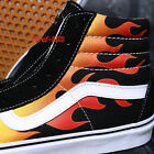 VANS SK8-HI FLAME BLACK BLACK WHITE MEN'S SKATE SHOES /S97156.264