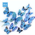 12 Pcs 3D Butterfly Wall Stickers Magnetic Decals Home Art Decor Removable DIY