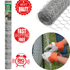 50' Mesh Poultry Netting Fence Garden Wire Chicken Rabbits Animals Net Protect