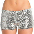 Sequin Booty Shorts Hot Pants Low Rise Metallic Dance Rave Costume BW1676