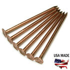 11 Gauge Copper Roofing Nails Smooth Shank Diamond Point - Choose Length & QTY