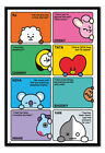 Framed BT21 Compilation Poster Official Licensed 26 x 38 Inches